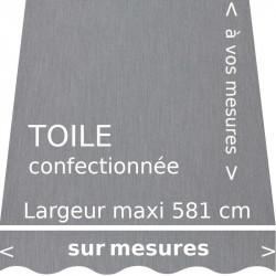 Toile acrylique gris souris pour store banne avec lambrequin forme : vague