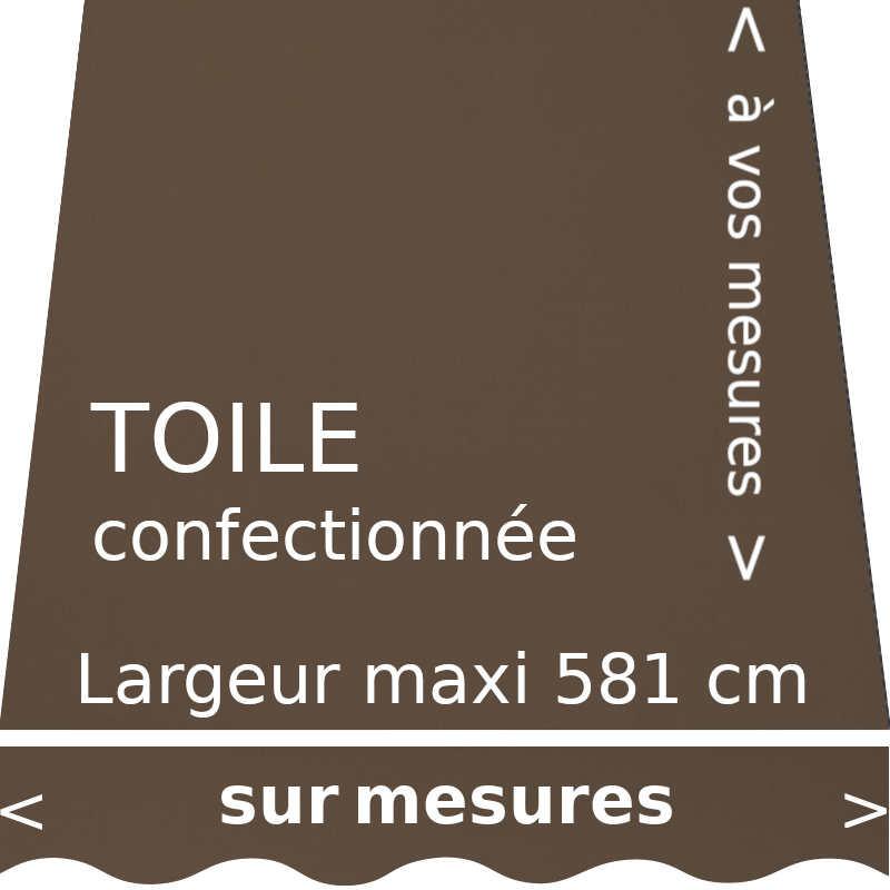 Toile unie couleur brun pâle Cacao avec lambrequin en forme de vague