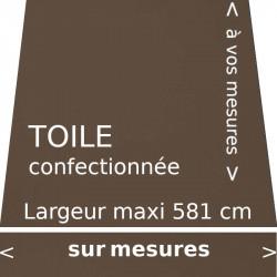 Toile unie couleur brun pâle Cacao avec lambrequin droit