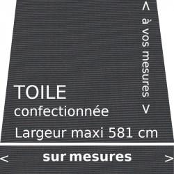 Toile unie couleur gris tweed Charcoal, avec lambrequin droit