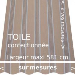 Toile collection Manosque couleur grège foncée avec lambrequin vague.