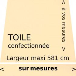 Toile unie couleur vanille (RAL 1015) (ivoire clair) et lambrequin droit