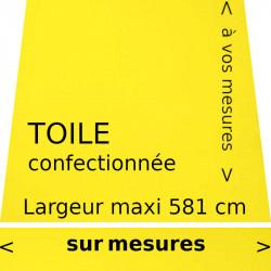 Toile acrylique couleur jaune citron (RAL 1016) et son lambrequin droit : à vos dimensions