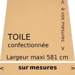 Toile acrylique couleur blé (RAL 1017 jaune safran) et son lambrequin droit