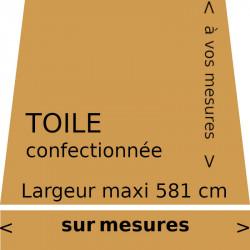 Toile de store couleur unie curry (ocre jaune RAL 1024) et son lambrequin droit