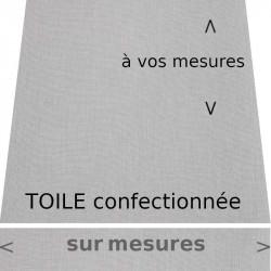 Toile de store couleur Gris Tweed, avec lambrequin de forme : droit