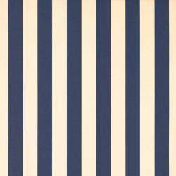 Store Lacanau 480 x 160 Bleu marine et écru : détail de la toile