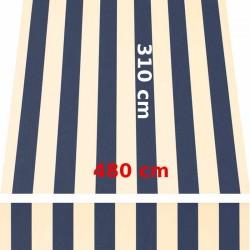 Store Lacanau 480 x 310 Bleu marine et écru : descriptif