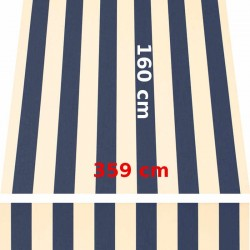 Store Lacanau 360 x 160 Bleu marine et écru : descriptif