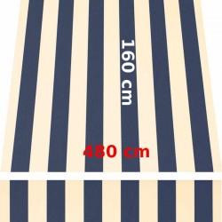 Store Lacanau 480 x 160 Bleu marine et écru : descriptif