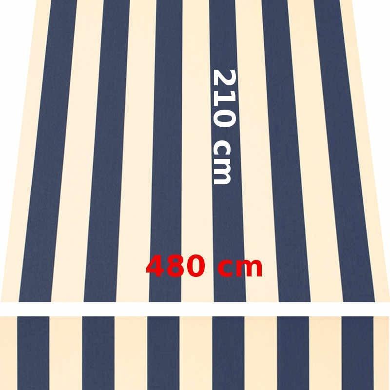 Store Lacanau 480 x 210 Bleu marine et écru : descriptif