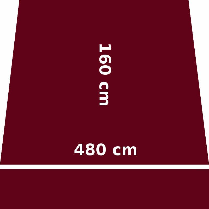 Store Lacanau 480 x 160 Rouge Bordeaux : descriptif