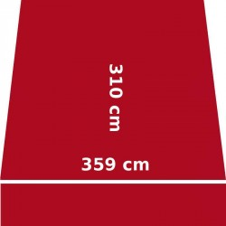 Store Lacanau 360 x 310 Rouge Rubis : descriptif