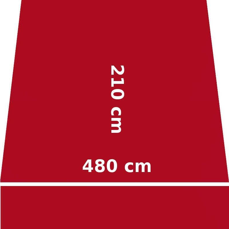 Store Lacanau 480 x 210 Rouge Rubis : descriptif