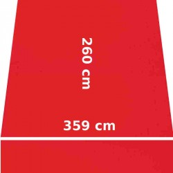 Store Lacanau 360 x 260 Rouge Vermillon : descriptif