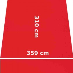 Store Lacanau 360 x 310 Rouge Vermillon : descriptif