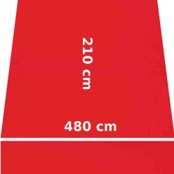 Store Lacanau 480 x 210 Rouge Vermillon : descriptif