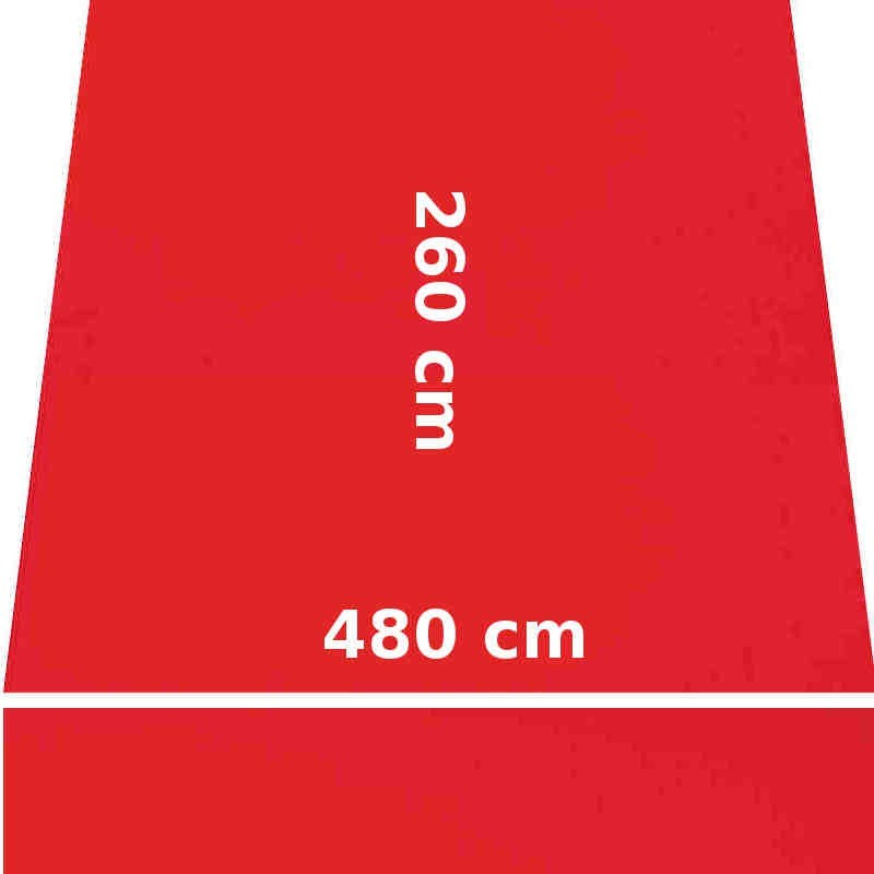 Store Lacanau 480 x 260 Rouge Vermillon : descriptif