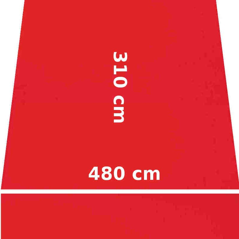 Store Lacanau 480 x 310 Rouge Vermillon : descriptif