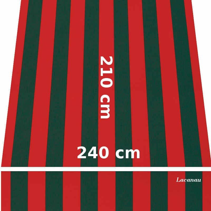 Store Lacanau 242 x 210 Rouge et vert : descriptif
