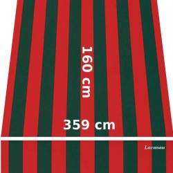 Store Lacanau 360 x 160 Rouge et vert : descriptif