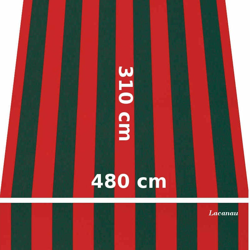 Store Lacanau 480 x 310 Rouge et vert : descriptif