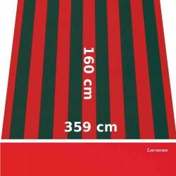Store Lacanau 360 x 160 Rouge et vert et lambrequin vermillon