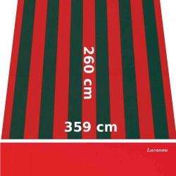Store Lacanau 360 x 260 Rouge et vert et lambrequin vermillon