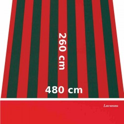 Store Lacanau 480 x 260 Rouge et vert et lambrequin vermillon