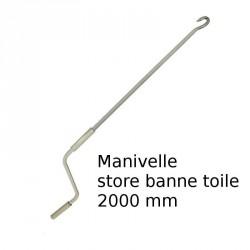 Manivelle N°4 pour store banne longueur 2000 mm