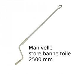 Manivelle N°5 pour store banne longueur 2500 mm