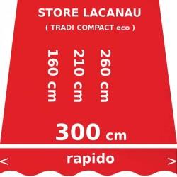 Store Lacanau 300 cm Rouge Vermillon : dimensions