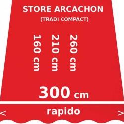 Store Arcachon 300 cm Rouge Vermillon : dimensions