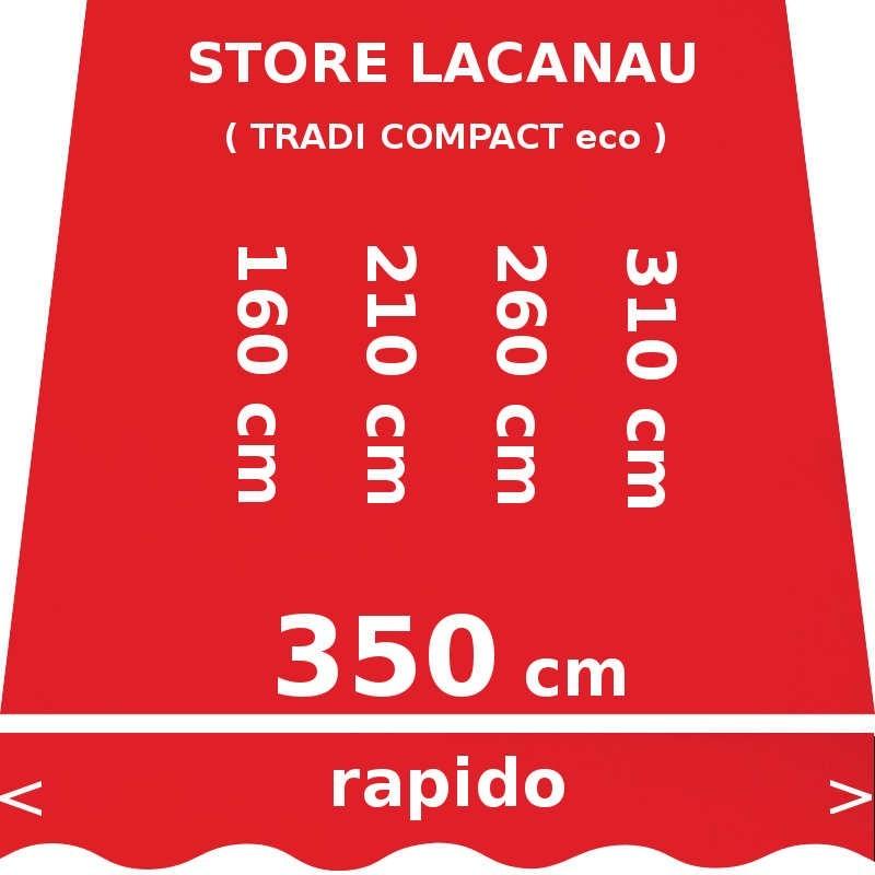 Store Lacanau 350 cm Rouge Vermillon : dimensions