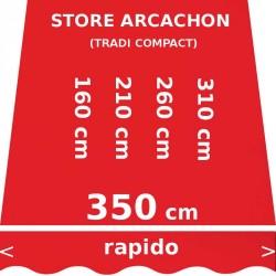 Store Arcachon 350 cm Rouge Vermillon : dimensions