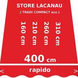Store Lacanau 400 cm Rouge Vermillon : dimensions