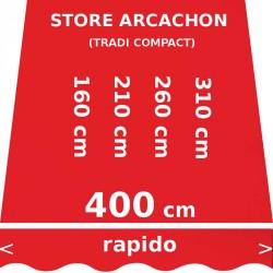 Store Arcachon 400 cm Rouge Vermillon : dimensions