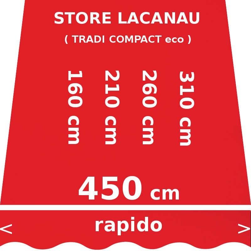 Store Lacanau 450 cm Rouge Vermillon : dimensions
