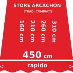 Store Arcachon 450 cm Rouge Vermillon : dimensions