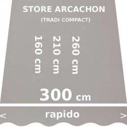 Store Arcachon 300 cm Gris : dimensions