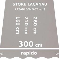Store Lacanau 300 cm Gris : dimensions