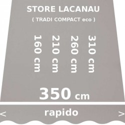 Store Lacanau 350 cm Gris : dimensions