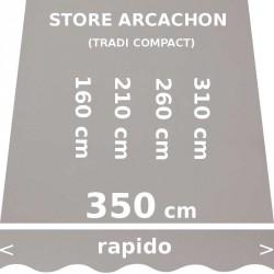 Store Arcachon 350 cm Gris : dimensions