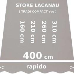 Store Lacanau 400 cm Gris : dimensions