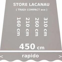 Store Lacanau 450 cm Gris : dimensions