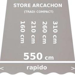 Store Arcachon 550 cm Gris : dimensions