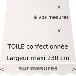 Toile de remplacement,couleur graphite,confectionnée a vos mesures : largeur maximum 230 cm