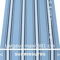 Toile acrylique pour store extérieur collection Chicago Bleu avec lambrequin droit confectionné aux dimensions de votre store