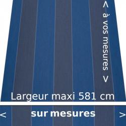 Toile acrylique pour store de protection solaire de la nouvelle collection COLOR BLOC couleur bleu et lambrequin droit
