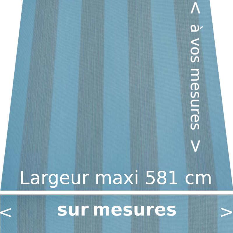 Toile acrylique de la nouvelle collection Pencil bleu avec lambrequin droit